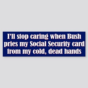 Cold Dead Hands Bumper Sticker